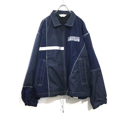 JieDa nylon switching jacket NAVY