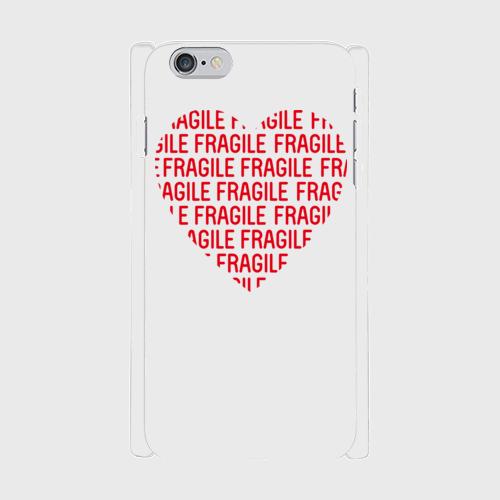 iPhone6Plus/6SPlus用スマホケース FRAGILE HEART 白マット