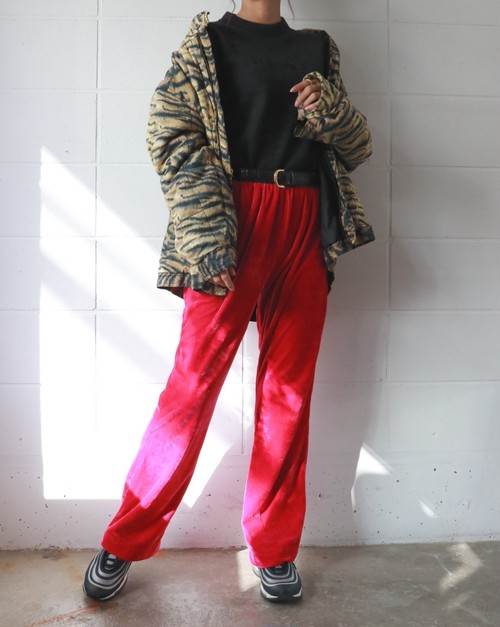 90's velours flare pants