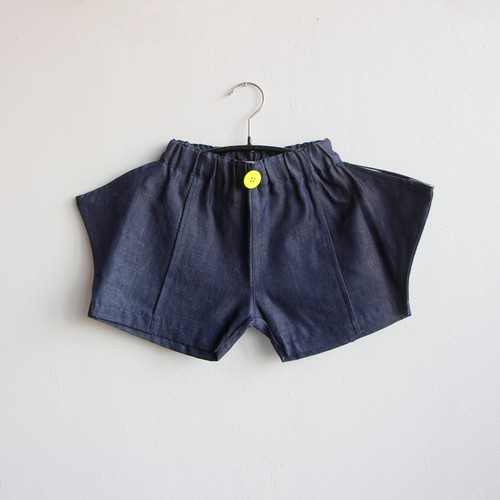 《frankygrow 2020SS》RHOMBOS DENIM SHORT PANTS / dark / LL