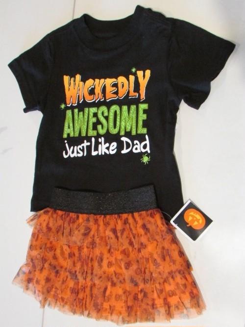 KIDS ハロウィンTシャツ&スカートセット