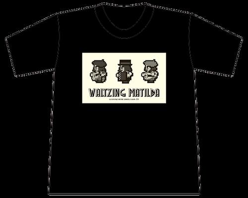 「WALTZING MATILDA」Tシャツ - ブラック