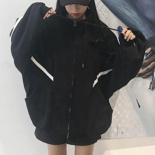 【トップス】学生韓国風ゆったりBFハイネック長袖厚いins大人気パーカー