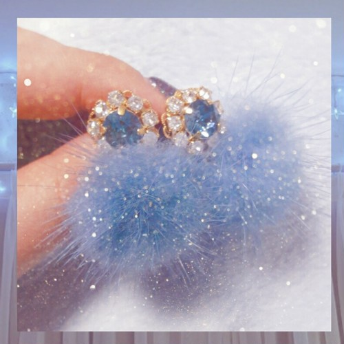 Bijou fur pierce mini♡Blue