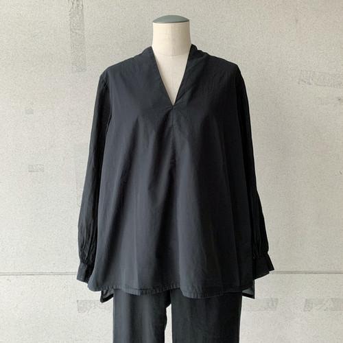 【COSMIC WONDER】Beautiful silk cotton v-necked shirt /13CW01149-1