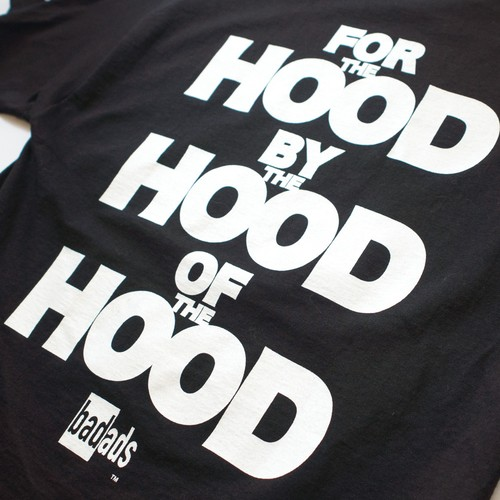 FOR THE HOOD BY THE HOOD OF THE HOOD TEE-BLACK