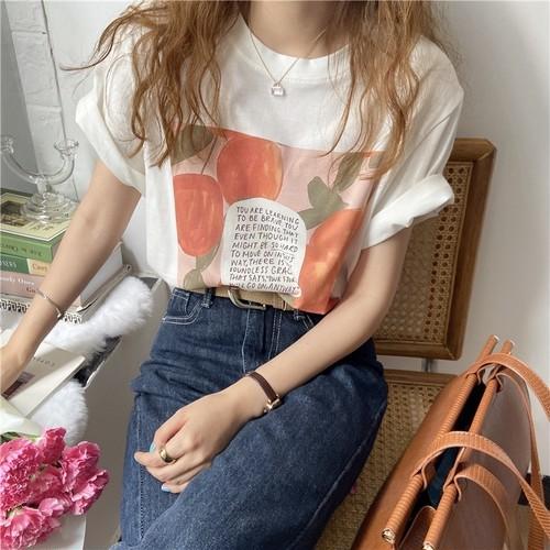 水彩イラストTシャツ U5591