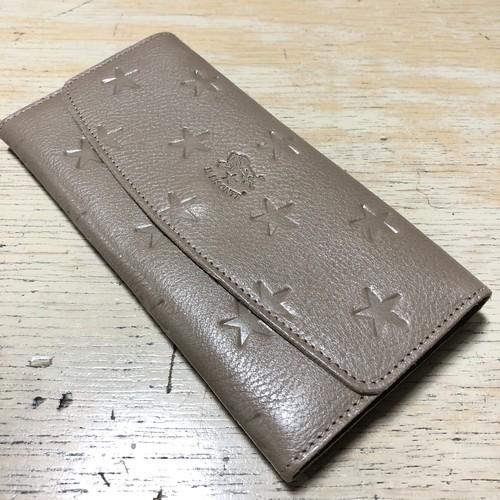 IL BISONTE イルビゾンテ JAPAN EXCUSIVE MODEL 星型押し長財布【54182310540】(COL グレー)