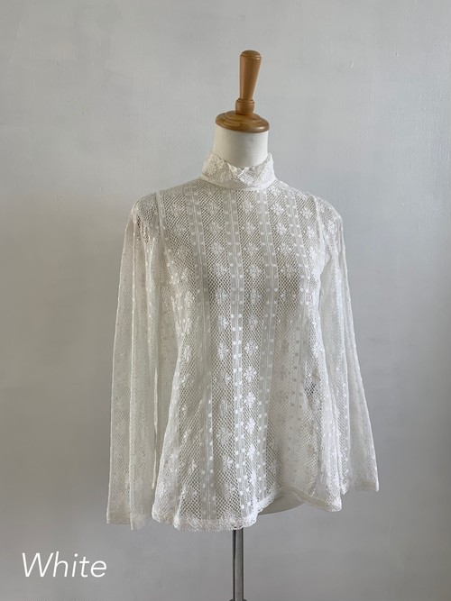 Bilitis dix-sept ans  Cluny Lace Blouse   (Stand Collar)