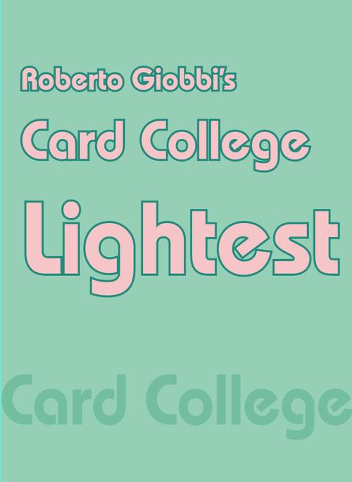 Roberto Giobbi『Card College Lightest』