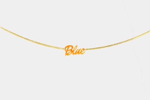 チグハグカラー ブレスレット「Blue」