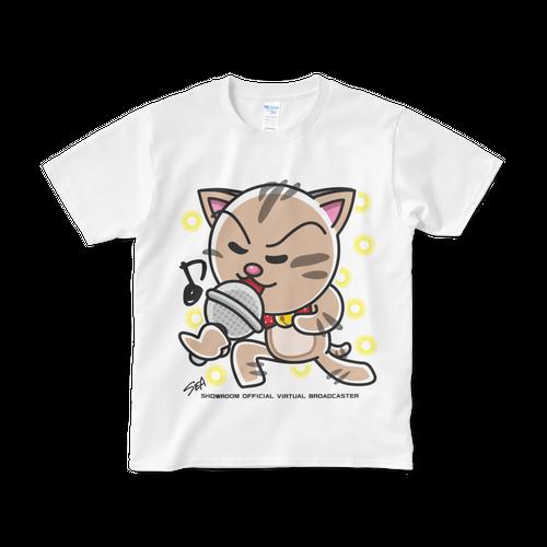 <白Tシャツ 正面>熱唱みーちゃん