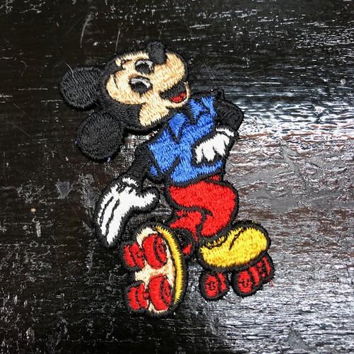 70's WDP ミッキーマウス ローラースケート ワッペン ビンテージ ディズニーランド