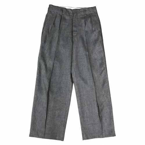 PE BASKET DOUBLE TUCK PANTS / バスケットダブルタックパンツ(GRY)