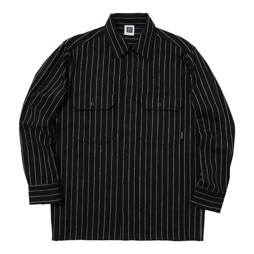STRIPED SHIRT(BLACK)[TH8A-072]
