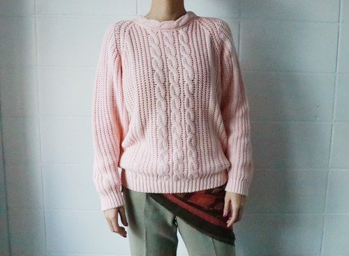 milky pink cotton mix sweater