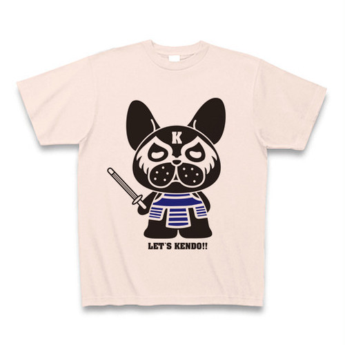 LET'S KENDO!! わんこロゴTシャツ/ライトピンク