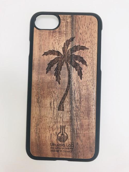 アイフォンケース ヤシの木 iPhone7 iPhone8 ウクレレ・ラボのコアの携帯ケース uk-100