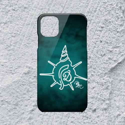 【iPhone11対応】D-Logoクリアブルーハードケース*ミステリアス×かわいい