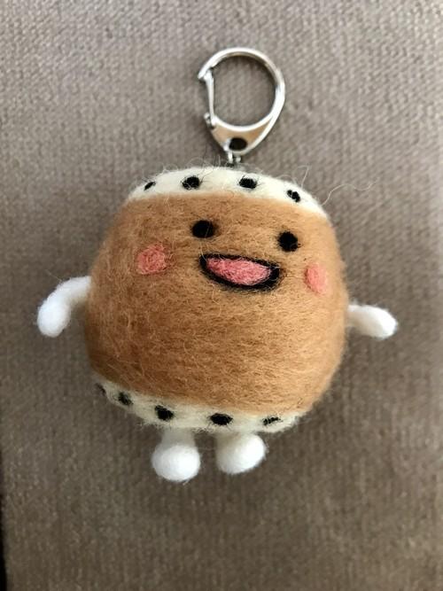ふわふわ太鼓ちゃん キーホルダー大(羊毛フェルト)