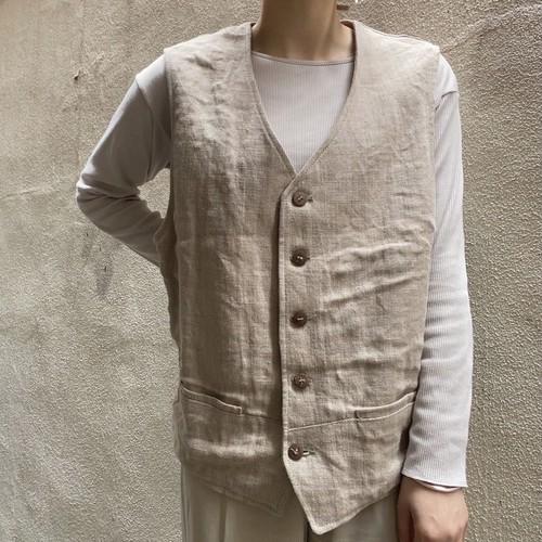 linen waist coat vest