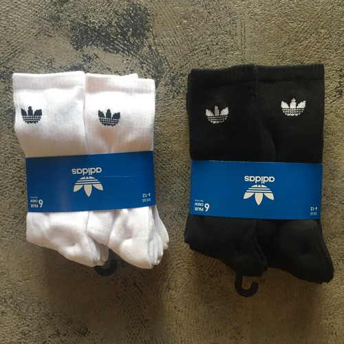 adidas Originals Trefoil Logo Crew 6 Pack Socks
