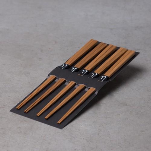 スス竹 箸 5膳セット