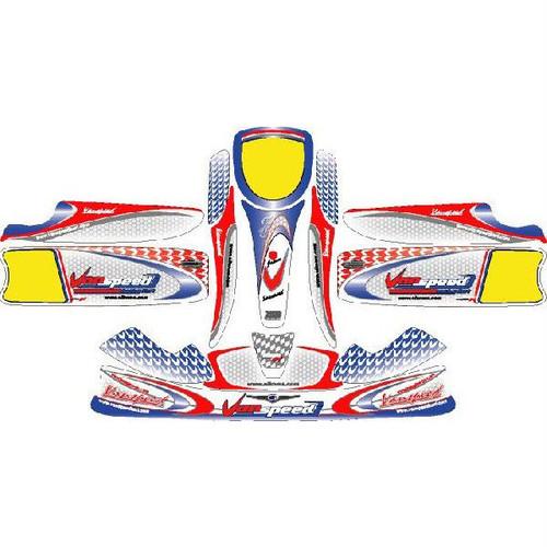 レーシングカート用 カウルステッカー UNICO用 Vanspeed-06Macau 特注品