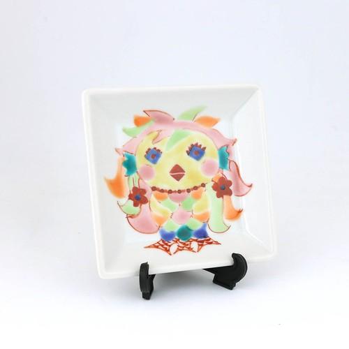 あまびえ様 ミニミニ飾皿 九谷晶窯