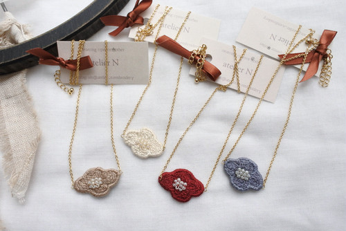 atelier N 「necklace✽flower」ネックレス H61~64