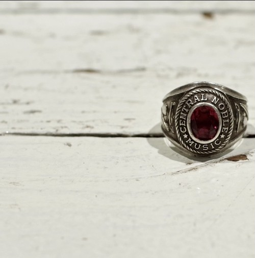 1973s College Ring (School Ring) / Vintage Sterling Silver ヴィンテージ カレッジリング