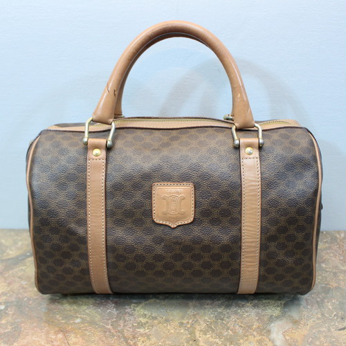 .OLD CELINE MACADAM PATTERNED BOSTON BAG MADE IN ITALY/オールドセリーヌマカダム柄ボストンバッグ 2000000030838