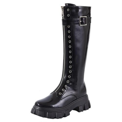 パンチングノーストゥリングブーツ(Black,White) 29800