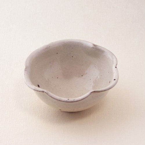 鉄散 輪花豆鉢 古谷製陶所 信楽焼