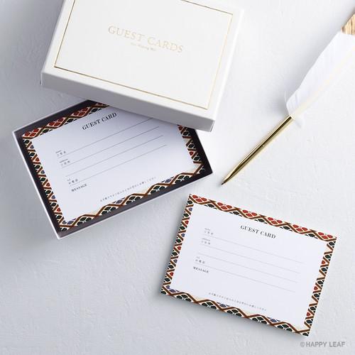 ゲストカード & BOX 『花菱』/50枚セット