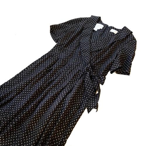 """""""Karin Stevens"""" Black White Dot Print Dress / 変形ドットワンピース"""