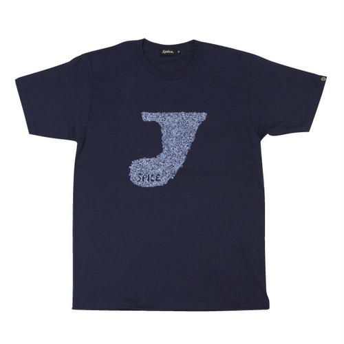 プリントTシャツ:ネイビー