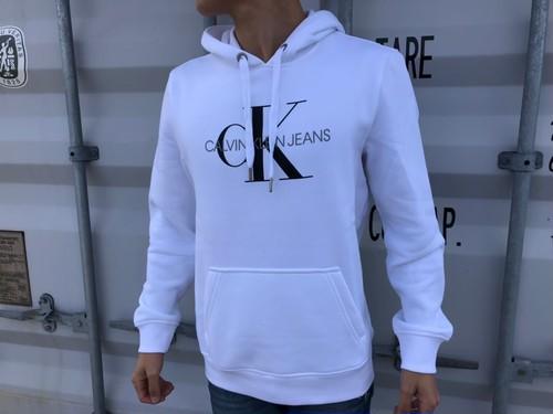 """【海外買い付け】Calvin Klein """"CK""""パーカー(white)"""