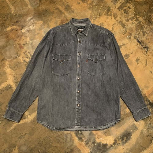 90s.Levis Black Denim Western / Euro