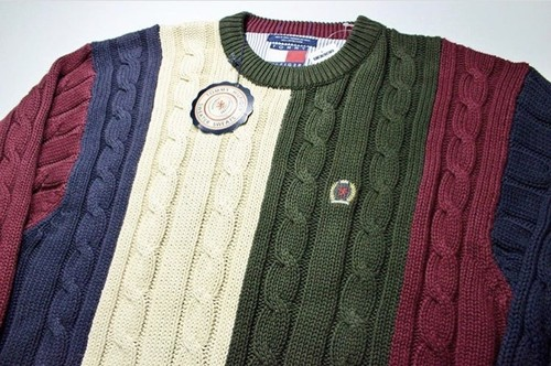 Deadstock 90's TOMMY HILFIGER Crazy Knit Sweater‼︎