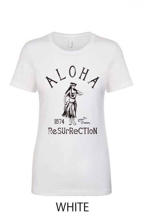 [WOMAN] ALOHA RESURRECTION TEE -WHITE-