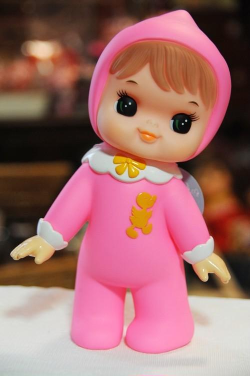可愛い昭和レトロなソフビ人形、よちよちまあちゃん