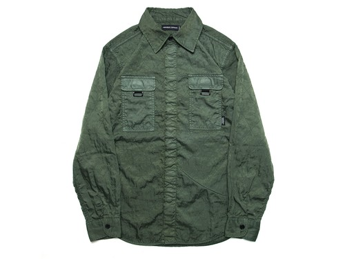 QUILTING NYLON SHIRT M316201 OLIVE