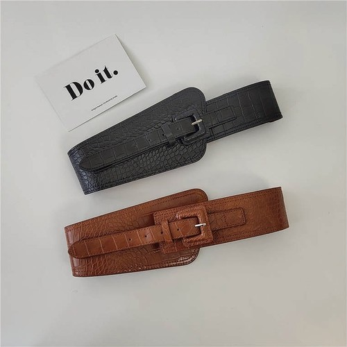 simple leather belt 2color