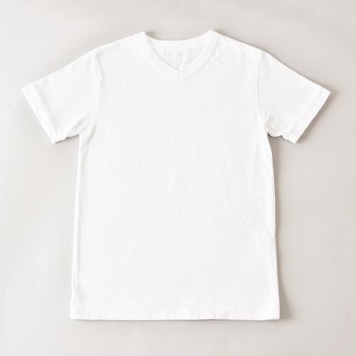 fit V NECK S/S T-SHIRTS WHITE