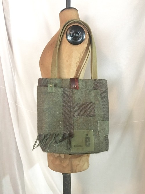 tote bag/ヴィンテージ カシミアマフラーのトートバッグ    ■tf-301
