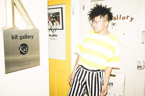 "EZ DO by EACHTIME.  ""PRINT BORDER TEE"" YELLOW"