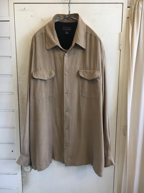 oversized silk herringbone shirts