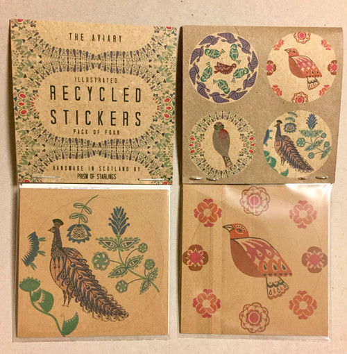Illustrated Recycled Stickers * The Aviary