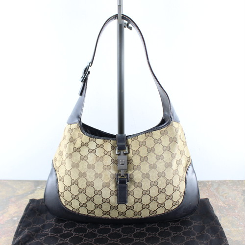 .GUCCI JACKY LINE GG PATTERNED LEATHER SEMI SHOULDER BAG MADE IN ITALY/グッチジャッキーラインGG柄レザーセミショルダーバッグ2000000053035